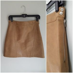 Zara Basic Collection Faux Leather Mini Skirt